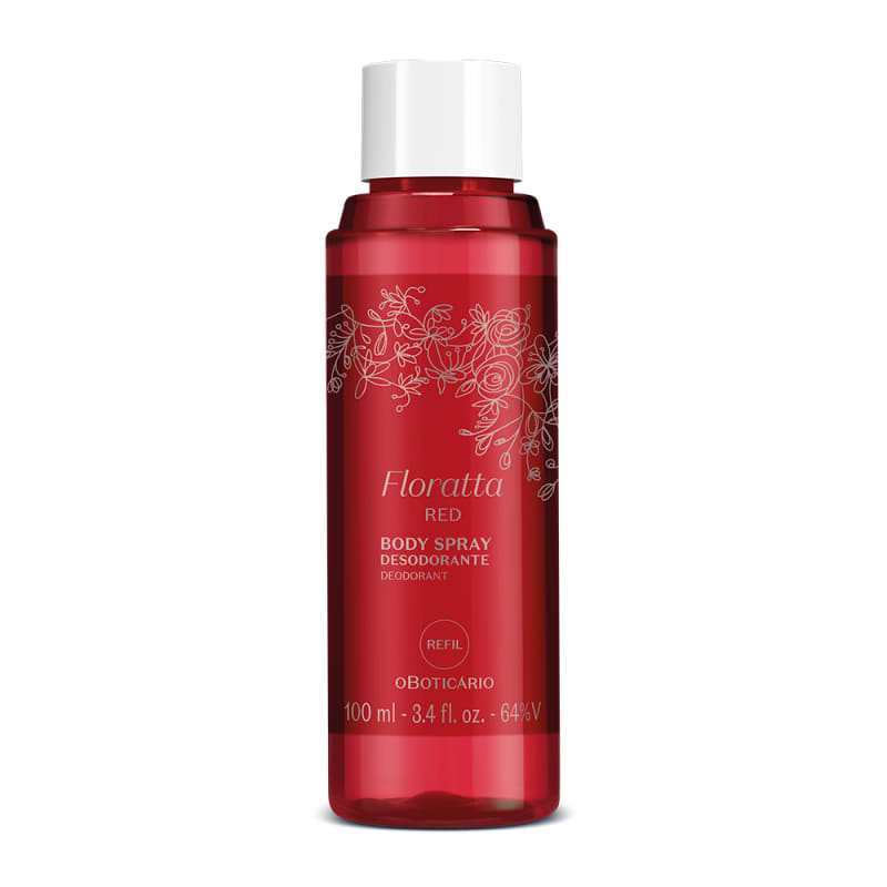 o Boticário Floratta Red Refil - Body Spray Desodorante Feminino 100ml