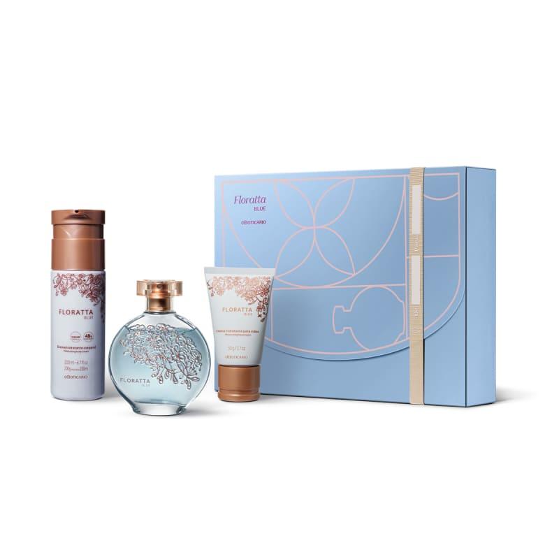 Kit Presente Floratta Blue: Desodorante Colônia 75ml + Loção Corporal 200ml + Creme para Mãos 50g