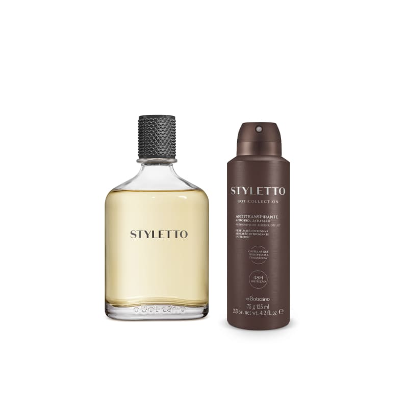 Combo Presente Botticollection Styletto: Desodorante Colônia 100ml + Antitranspirante 75g