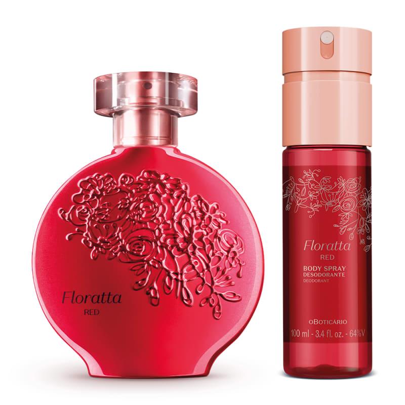 Combo Floratta Red: Desodorante Colônia 75ml + Body Spray 100ml