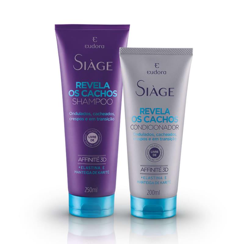 Kit Siàge Revela os Cachos: Shampoo + Condicionador