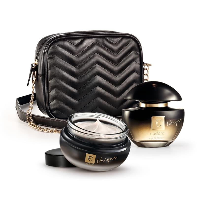 Kit Unique Eau De Parfum + Creme Desodorante Hidratante + Bolsa