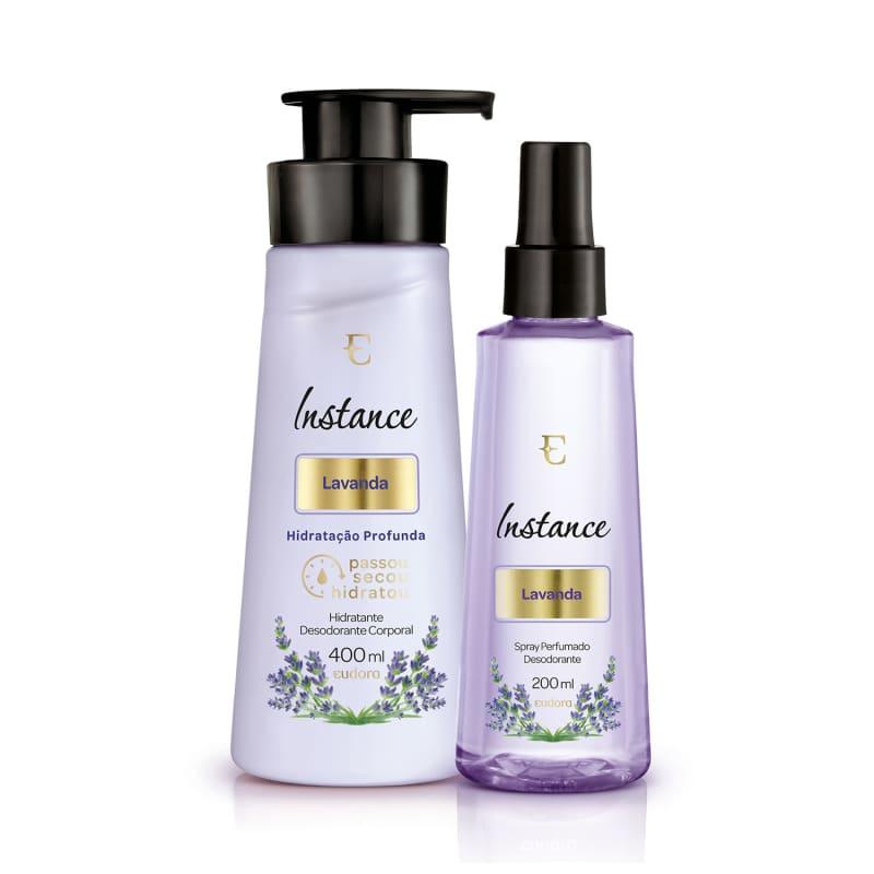 Kit Instance Lavanda Hidratante Desodorante + Spray Perfumado