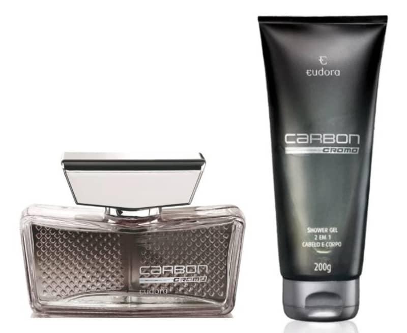 Kit Carbon Cromo Colônia Desodorante + Shower Gel