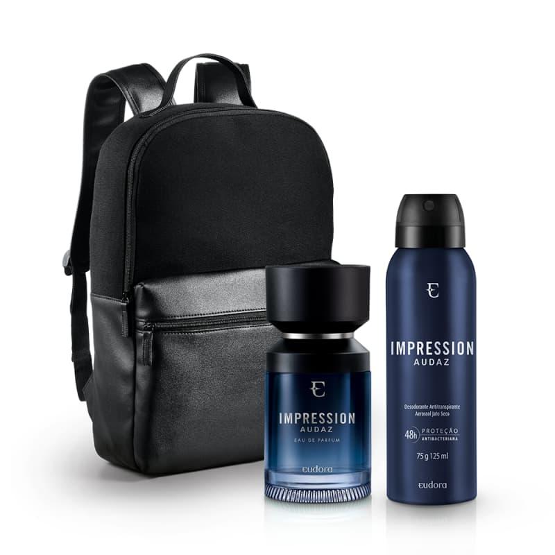 Kit Impression Audaz Eau de Parfum + Desodorante Antitranspirante Aerossol + Mochila Masculina