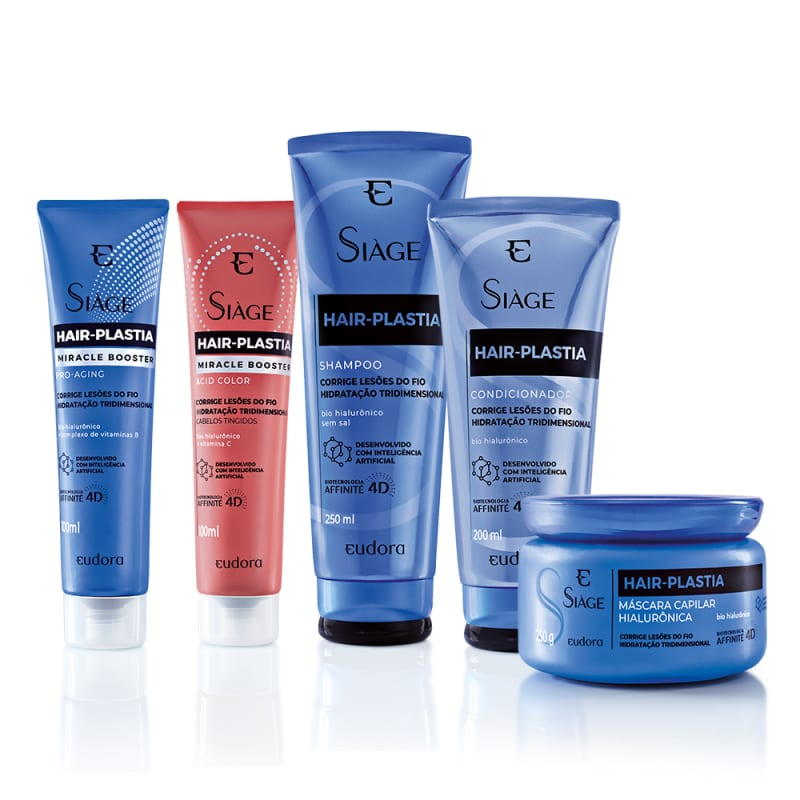 Combo Siàge Hair Plastia Completo (5 itens)