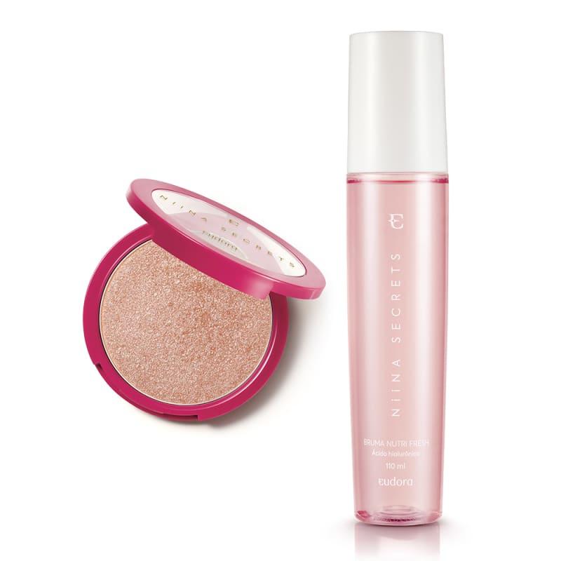 Combo Niina Secrets Iluminador Rosé + Bruma Nutri Fresh