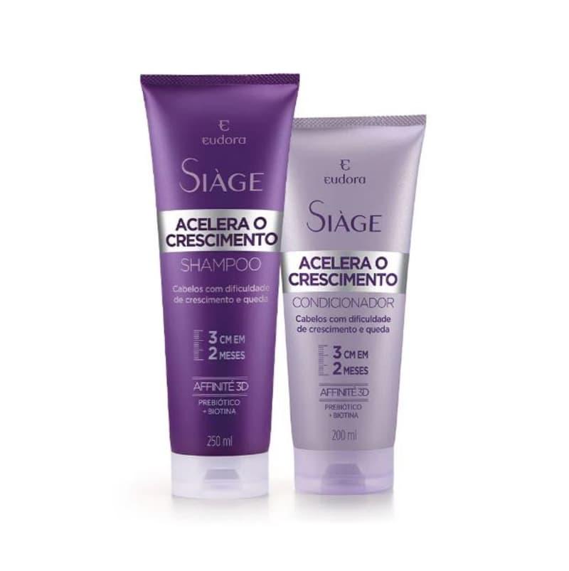 Kit Siàge Acelera o Crescimento Shampoo 250ml + Condicionador 200ml