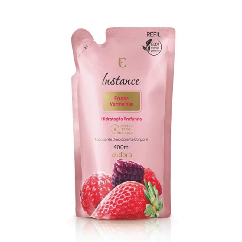 Refil Loção Desodorante Hidratante Corporal Instance Frutas Vermelhas 400ml