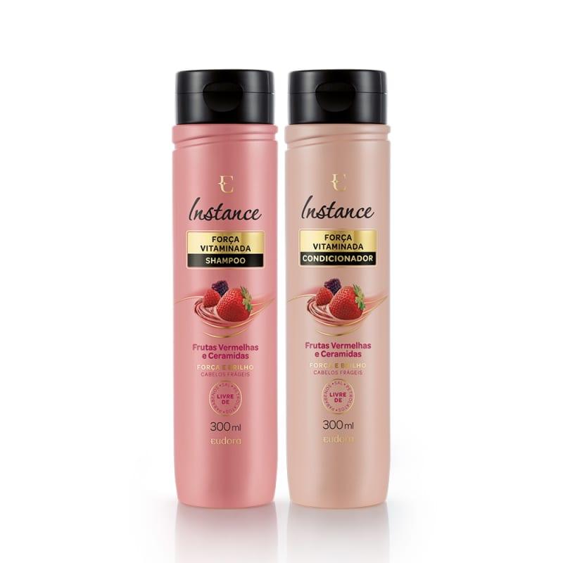 Kits Instance Frutas Vermelhas: Shampoo + Condicionador