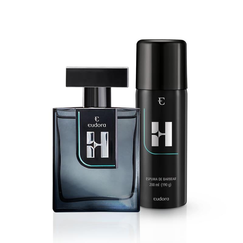 Kit Eudora H Colônia Desodorante + Espuma de Barbear