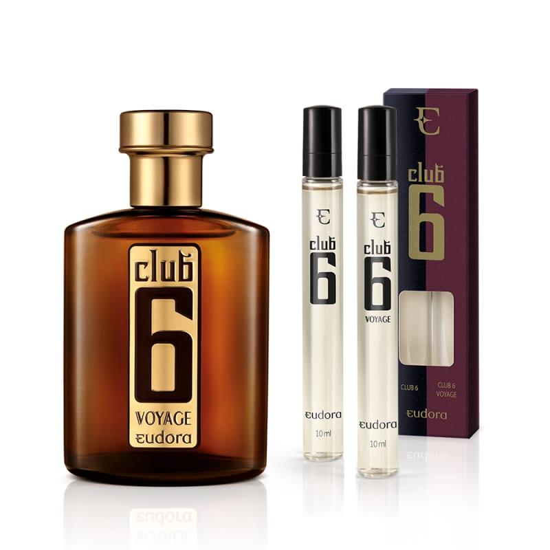 Conjunto Club 6 Voyage Eudora Masculino - Colônia Desodorante 95ml + Colônia Desodorante 2x10ml