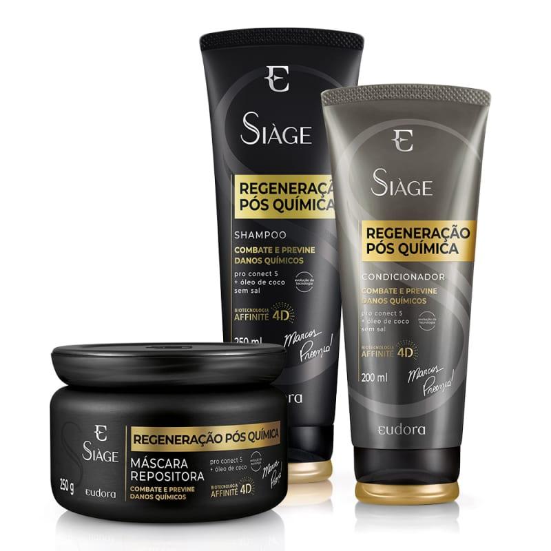 Kit Siàge Regeneração Pós Química Shampoo + Condicionador + Máscara