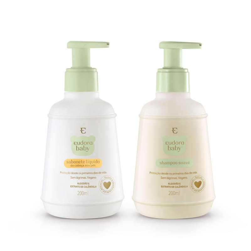 Kit Eudora Baby Sabonete Líquido + Shampoo
