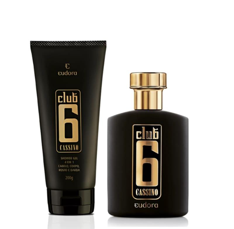 Kit Club 6 Cassino Colônia Desodorante + Shower Gel