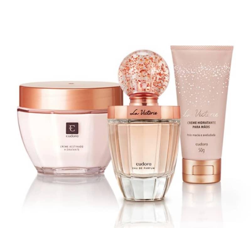 Kit La Victorie Eau de Parfum + Creme Acetinado + Hidratante Desodorante Mãos