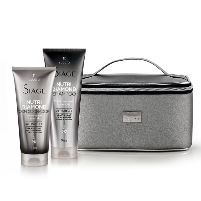Kit Siàge Nutri Diamond Shampoo + Condicionador + Frasqueira