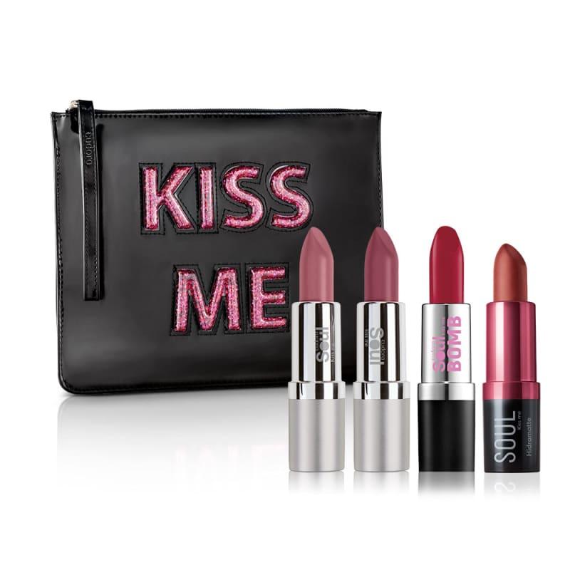 Kit Soul Kiss Me 4 Batons + Nécessaire