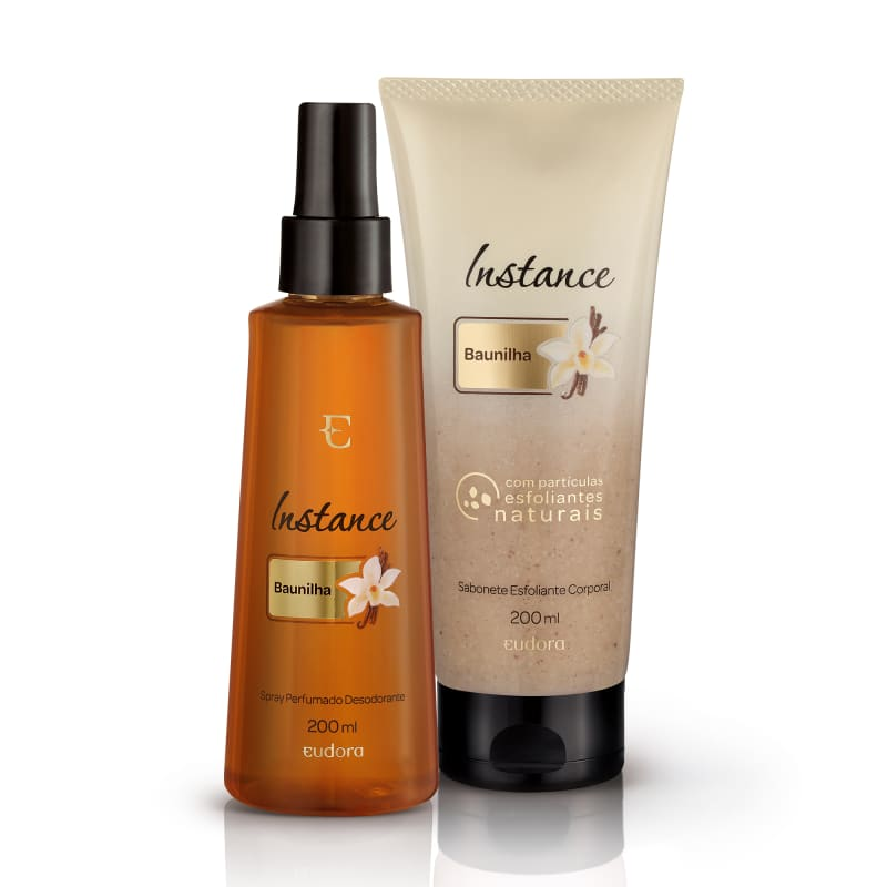 Kit Instance Baunilha Body Spray + Esfoliante Corporal