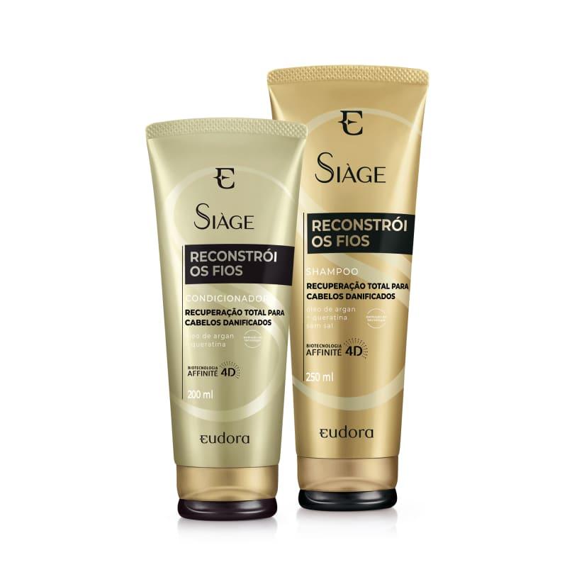 Kit Siàge Reconstrói Os Fios Shampoo + Condicionador (Nova Versão)