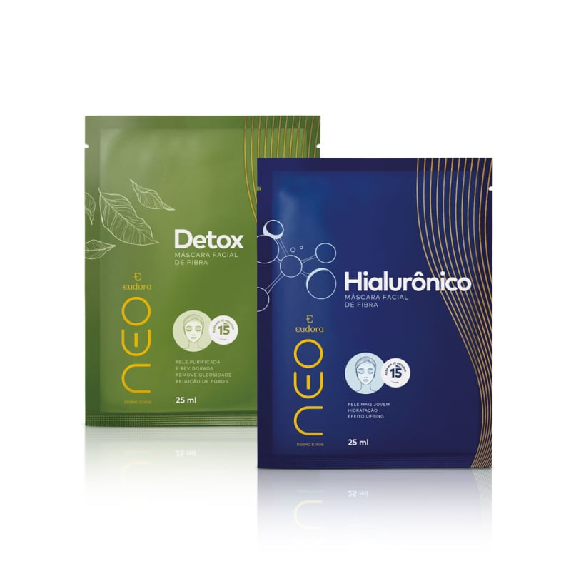Kit Neo Dermo Etage Máscara Facial Detox + Hialurônico