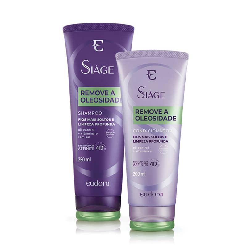 Kit Eudora Siàge Remove a Oleosidade (Nova Versão) - Shampoo 250ml + Condicionador 200ml