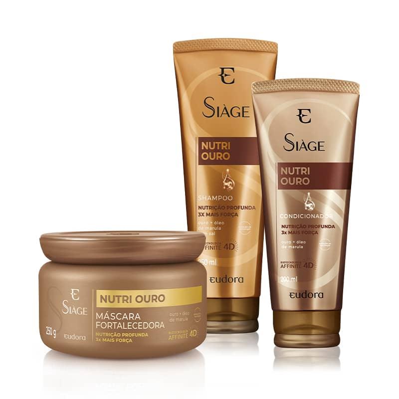 Kit Siàge Nutri Ouro Shampoo + Condicionador + Máscara