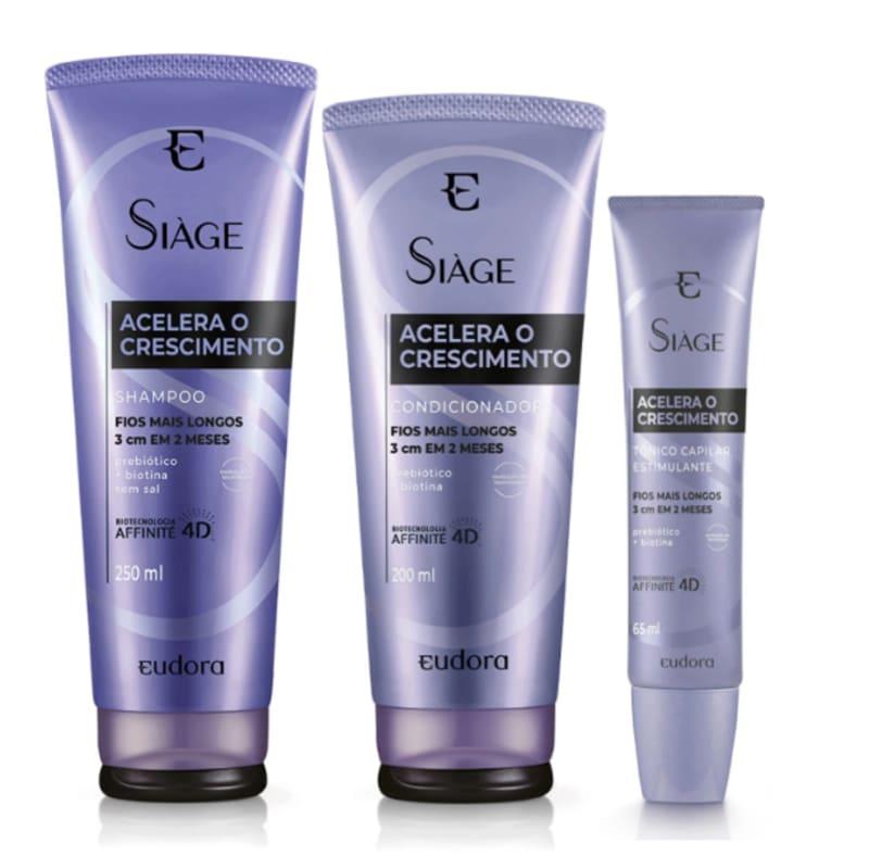 Kit Siàge Acelera O Crescimento Shampoo + Condicionador + Tônico
