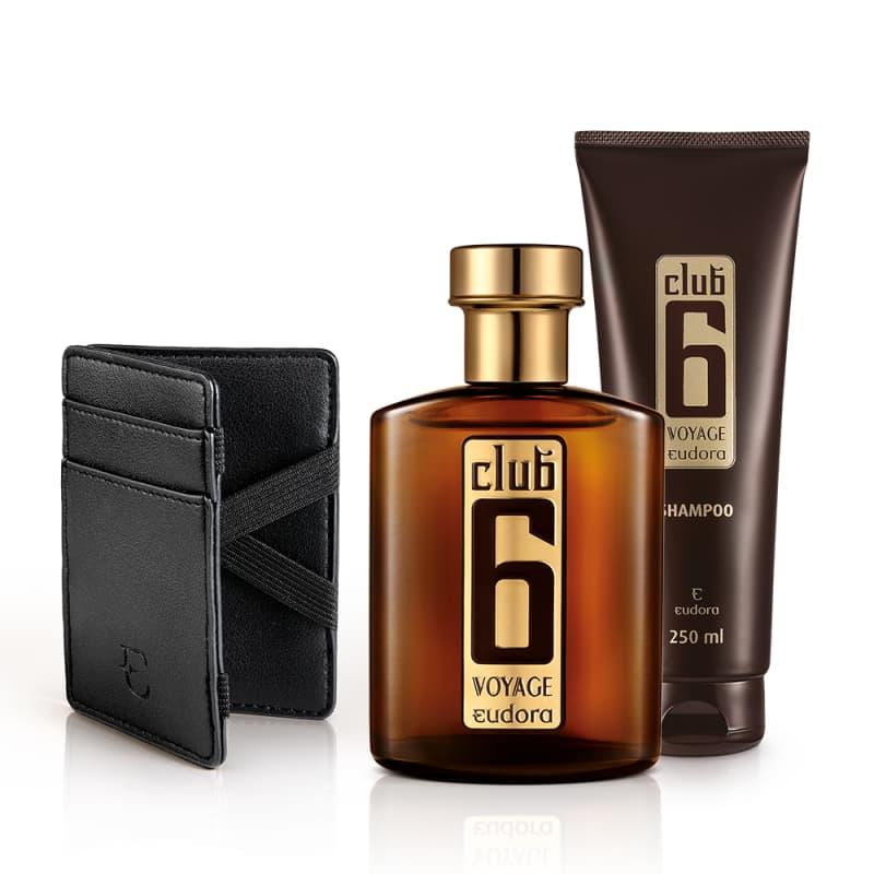 Kit Club 6 Voyage Colônia Desodorante + Shampoo + Carteira