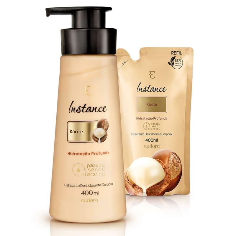 Kit Instance Karité Hidratante Desodorante Corporal + Refil