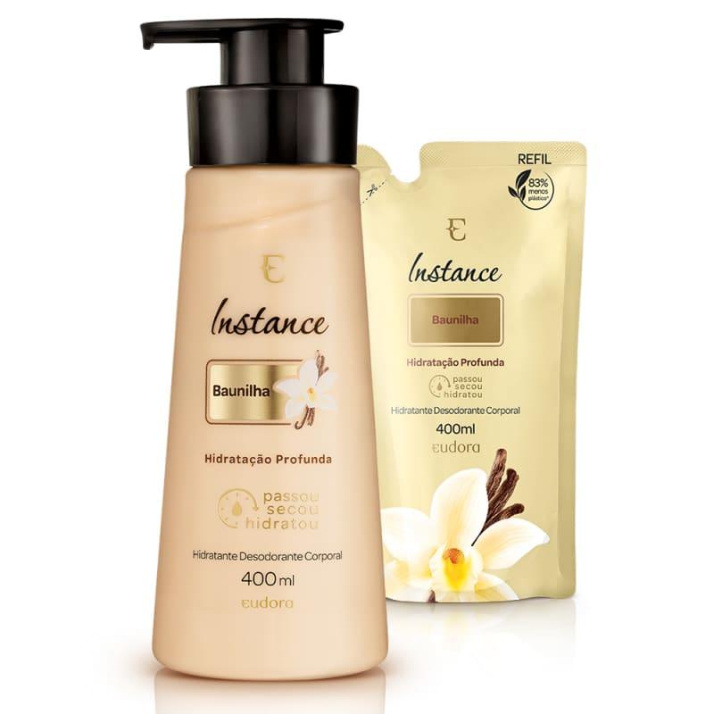 Kit Instance Baunilha Hidratante Desodorante Corporal + Refil