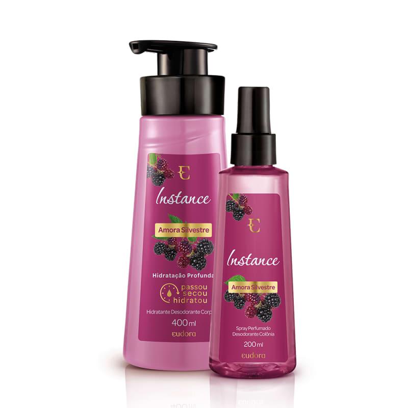 Kit Instance Amora Silvestre Loção Hidratante + Colônia Desodorante Spray