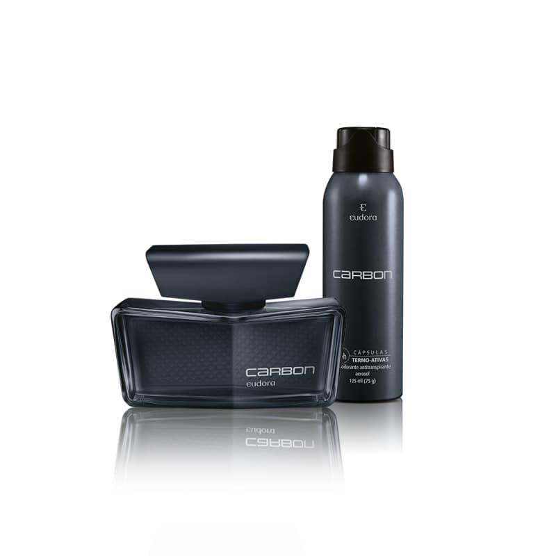 Kit Carbon Colônia Desodorante + Desodorante Aerossol