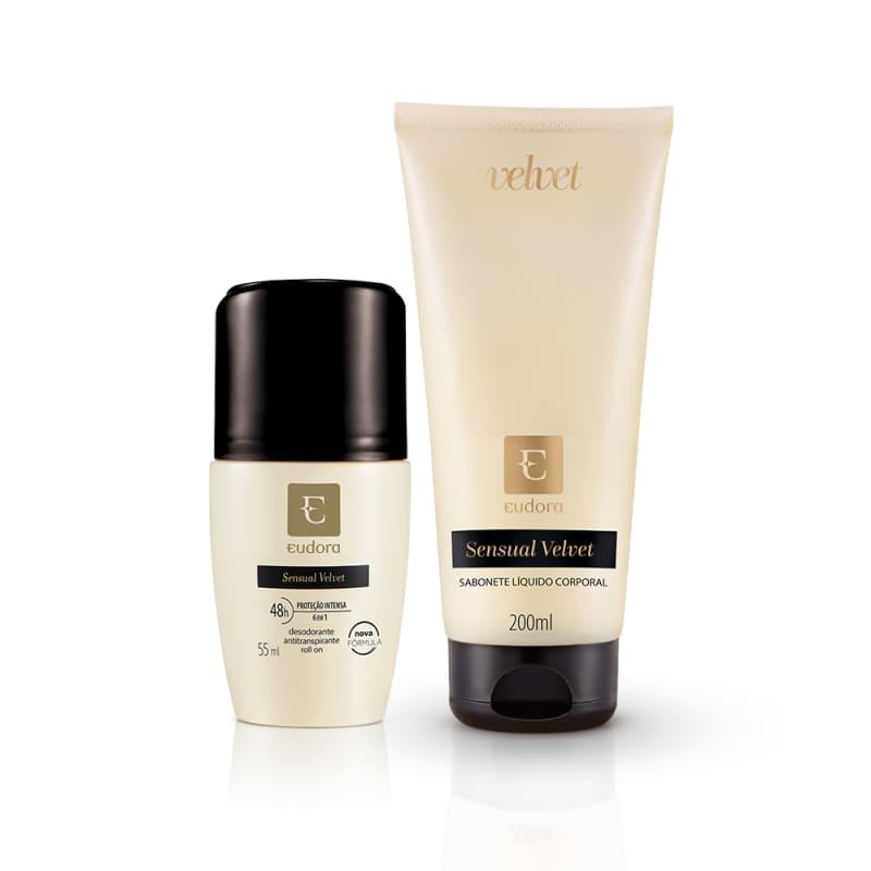 Kit Sensual Velvet Desodorante Antitranspirante + Sabonete Líquido