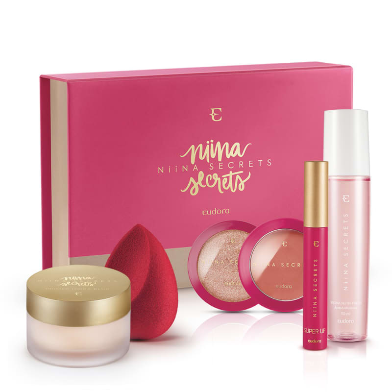Kit Eudora Niina Secrets Power Glow Rosé Box (7 Produtos)