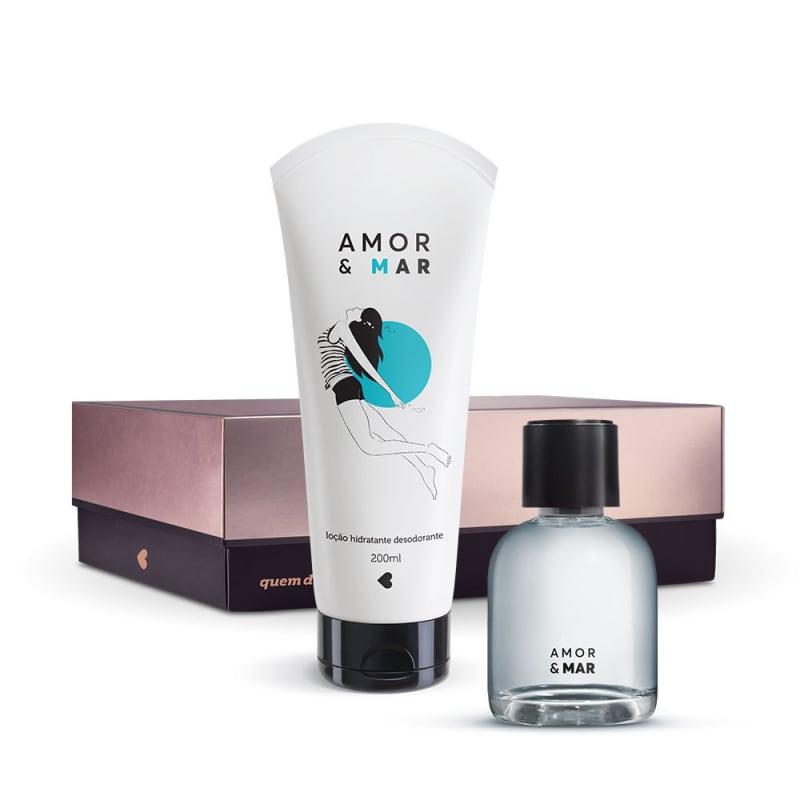 Kit Amor e Mar: Desodorante Colônia 75ml + Desodorante Loção Hidratante Corporal