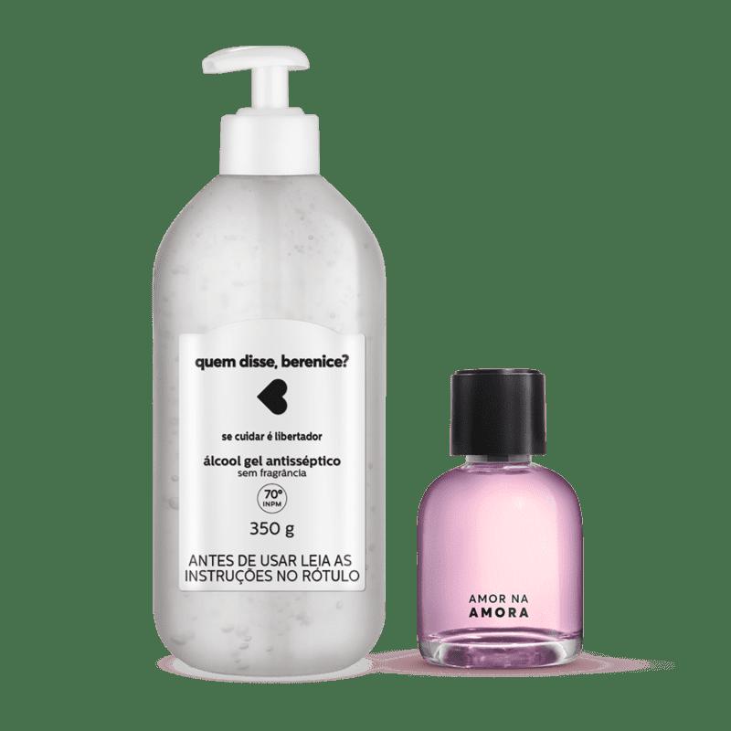 Kit Cuidados: Álcool Gel + Desodorante Colônia Amor na Amora 75ml