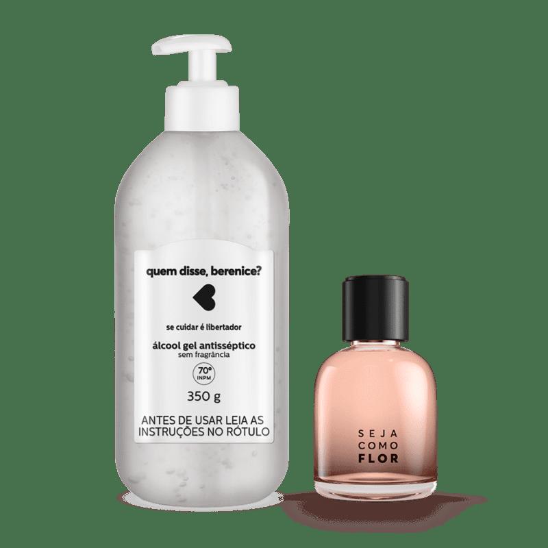 Kit Cuidados: Álcool Gel + Desodorante Colônia Seja Como Flor 75ml