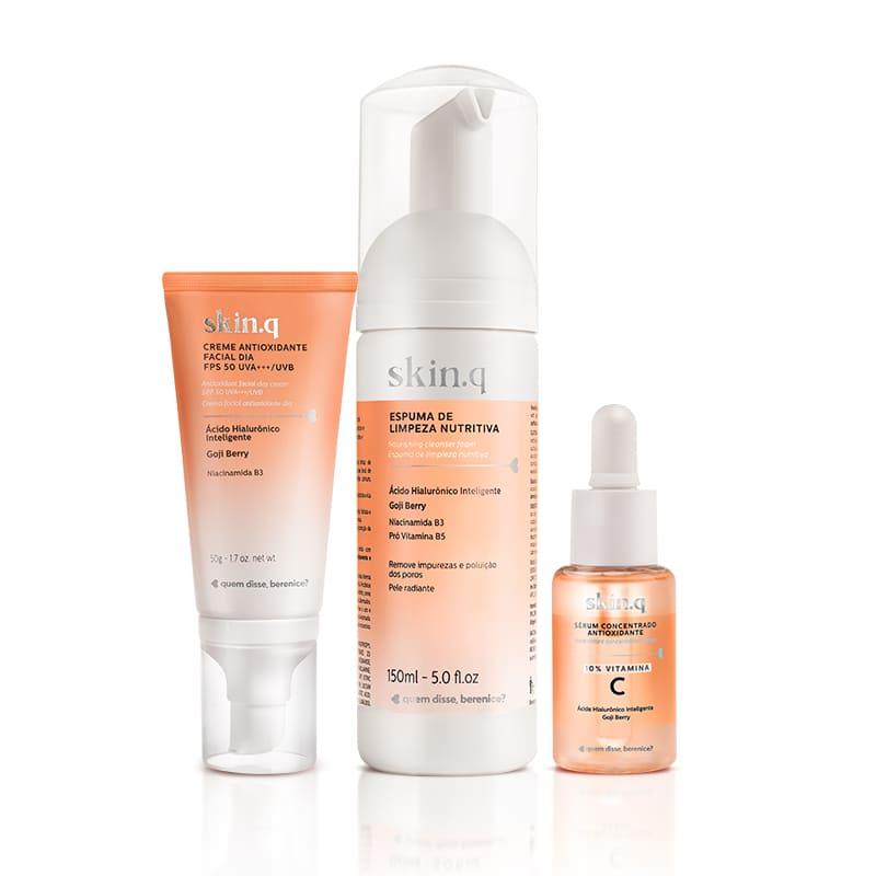 Kit Skin.q Dia - Tratamento + Proteção Solar e Luz Azul