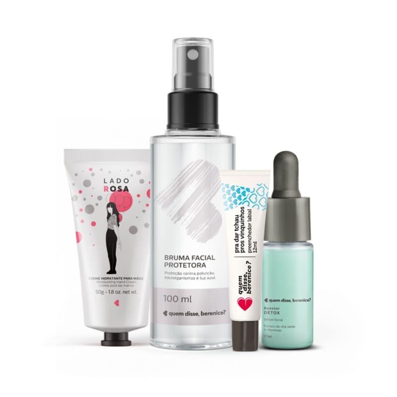 Kit Booster Nutrição + Tchau Vinquinhos + Creme Mãos Lado Rosa + Bruma Facial