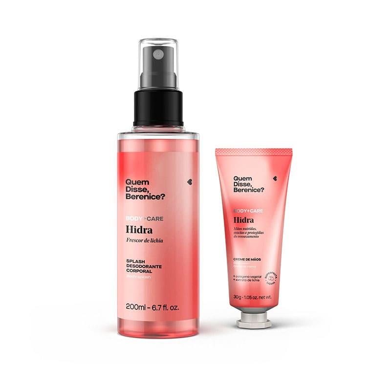 Kit Hidra: Creme Mãos + Splash Lichia Desodorante Colonia 200ml