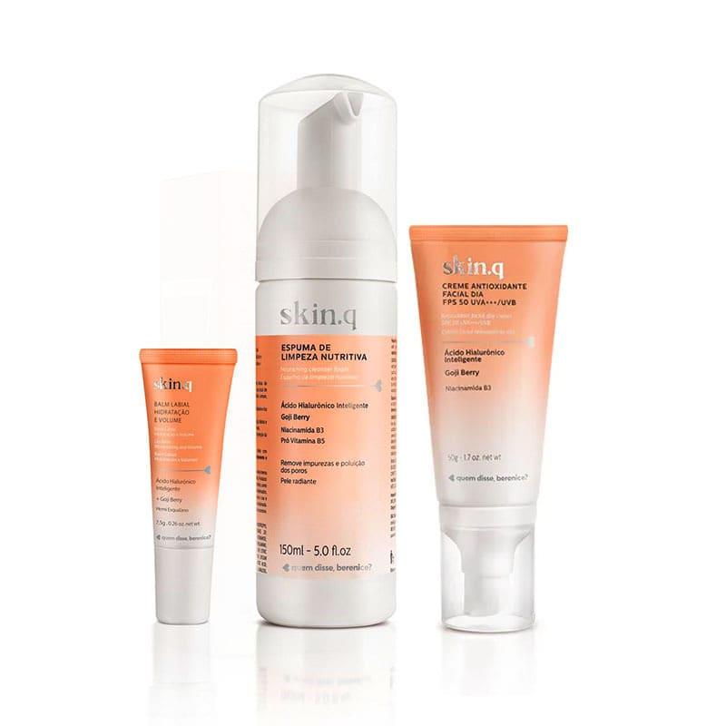 Kit Skin.q Ação Antioxidante Rosto e Lábios