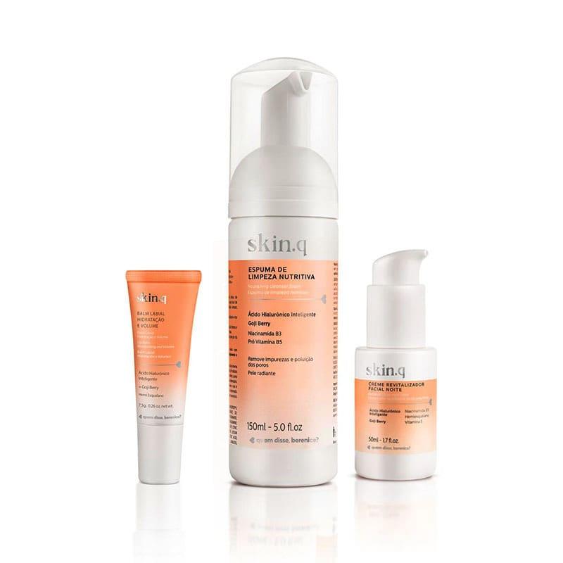 Kit Skin.q Ação Revitalizadora Rosto e Lábios