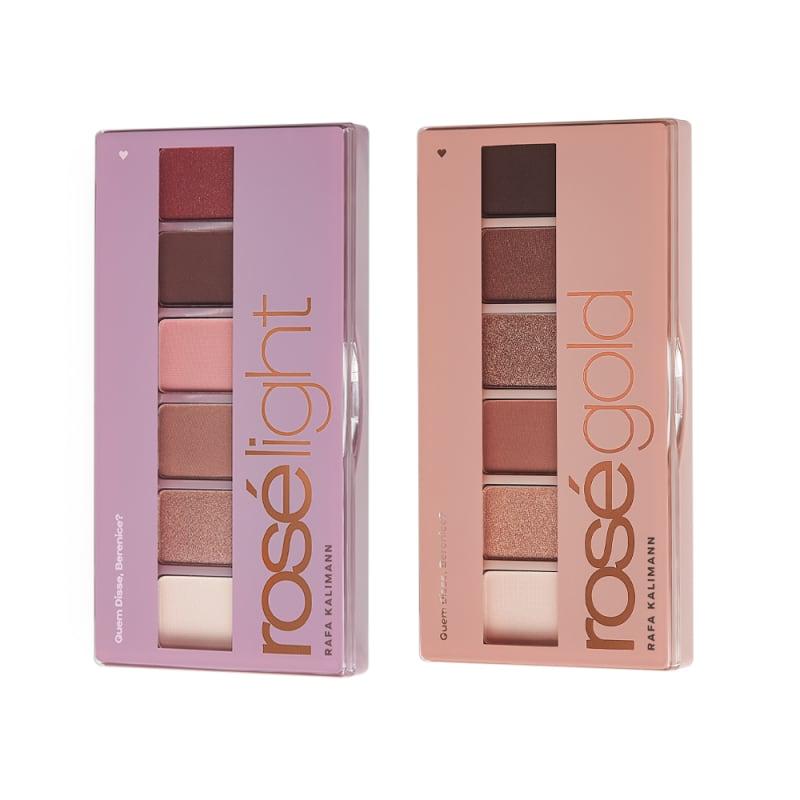 Combo Rosé: Paleta de Sombras Light 7,2g + Paleta de Sombras Gold 7,2g