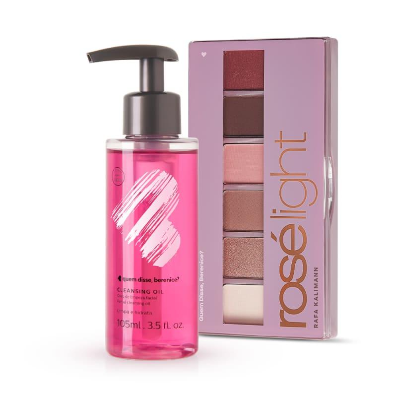 Kit Cleansing Oil + Paleta de Sombras Rosé Light