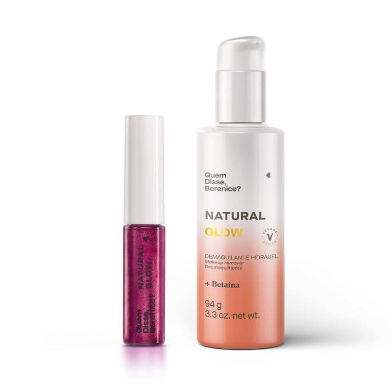 Combo Natural Glow: Demaquilante Hidragel + Tint Glow Cereja