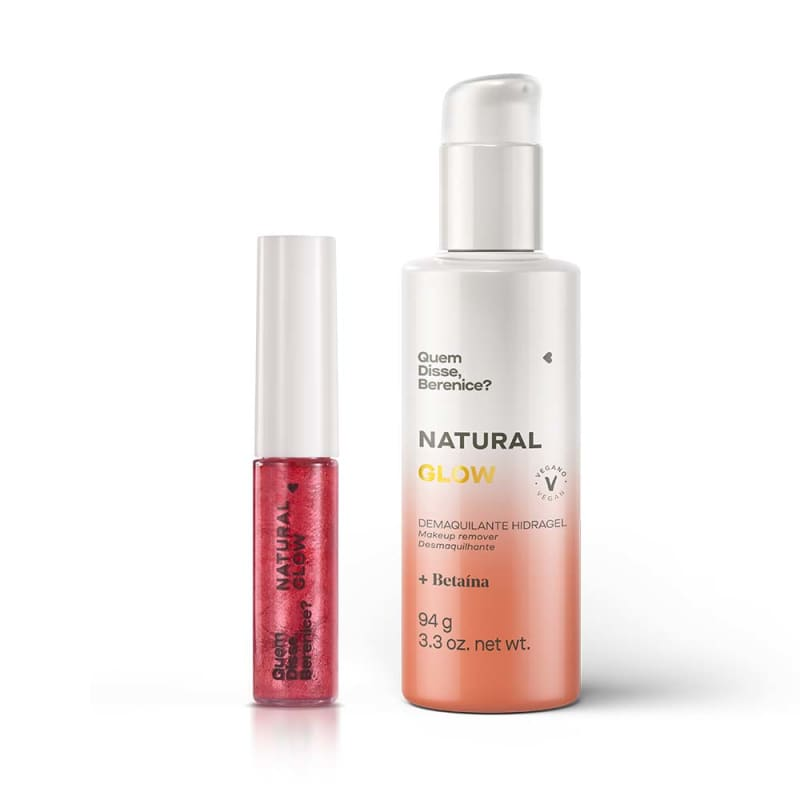 Combo Natural Glow: Demaquilante Hidragel + Tint Glow Coral