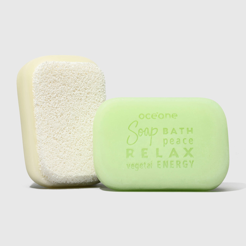 Green Tea Soap Sponge - Sabonete Vegetal De Chá Verde Com Esponja 120G