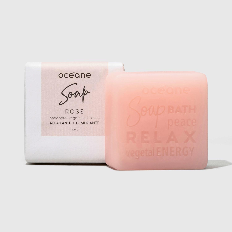 Rose Soap - Sabonete Vegetal De Rosas 85G