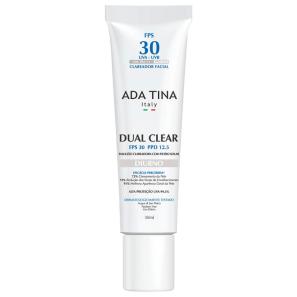 Ada Tina Dual Clear Diurno FPS 30 PPD 12,5 -  Emulsão Clareadora de Manchas